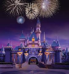 Fireworks light up the sky above Cinderella's Castle in Disneyland's Magic Kingdom